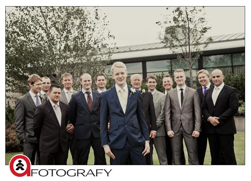 Groom-with-stag-party-in-Edinburgh