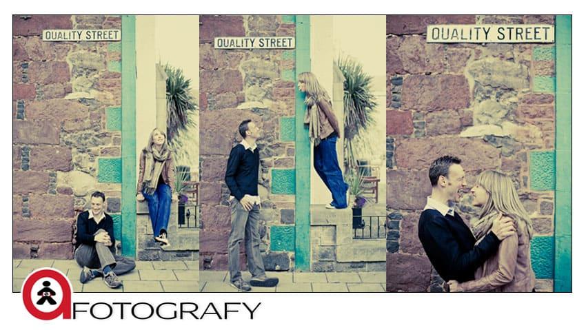 north berwick street engagement portrait session