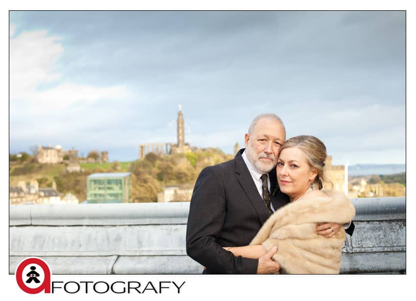Blamoral-hotel-wedding-couple-with-photographer-on-the-rooftop