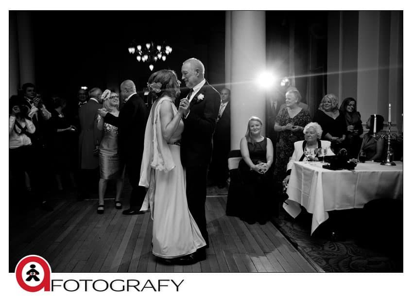 Wedding-first-dance-at-the-balmoral-hotel,-Edinburgh,-UK