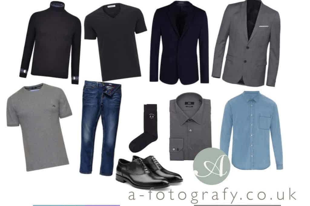 What to wear for black and white portraits for men