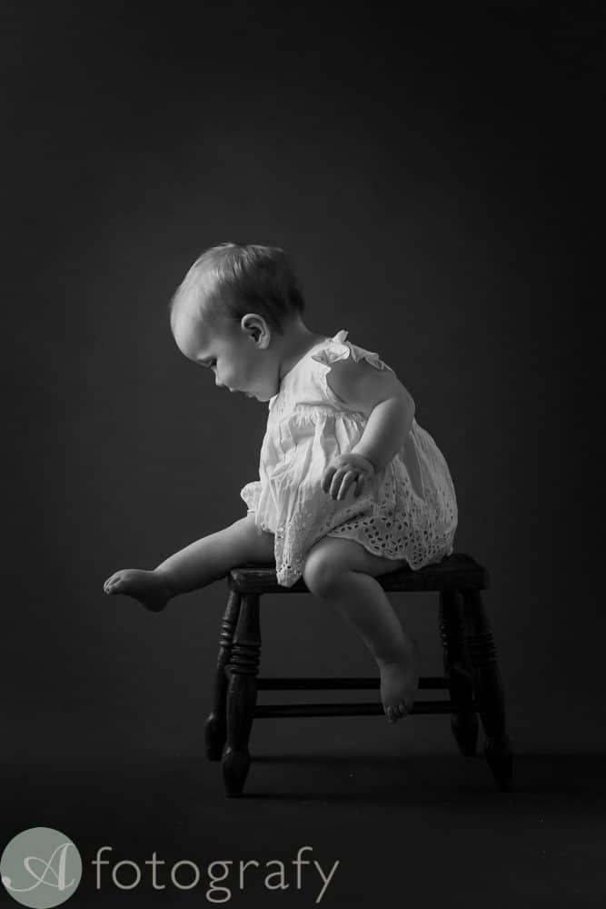 classic black and white portraits of children 3