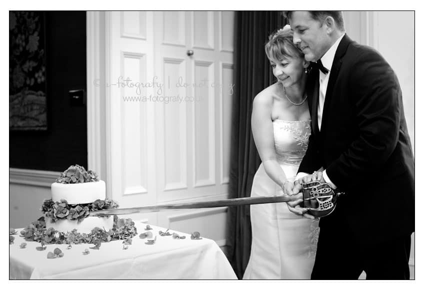 cake-cutting-with-sword-at-Roxburghe-country-house-hotel