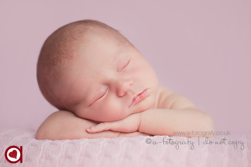 Scotland newborn baby portrait photographer in UK Newborn photo studio Edinburgh.