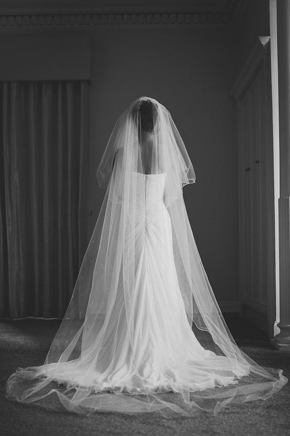 Bridal portrait at Solsgirth hotel