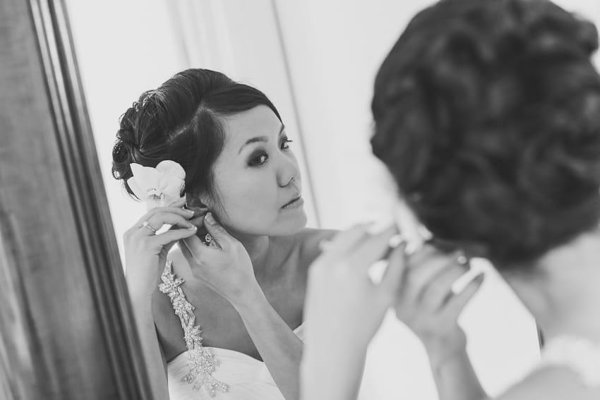 Bridal wedding getting ready portraits