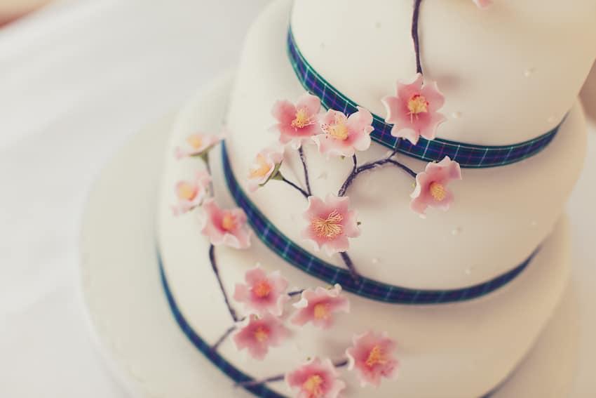 Japanesse themed wedding cake