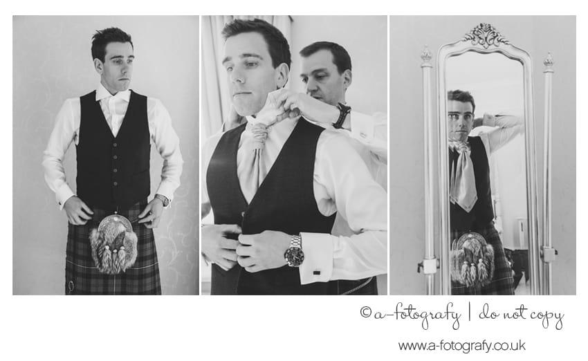 Solsgirth groom getting ready