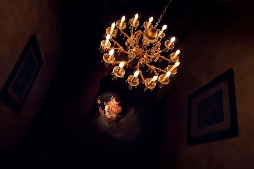 Solsgirth house wedding portraits during low light