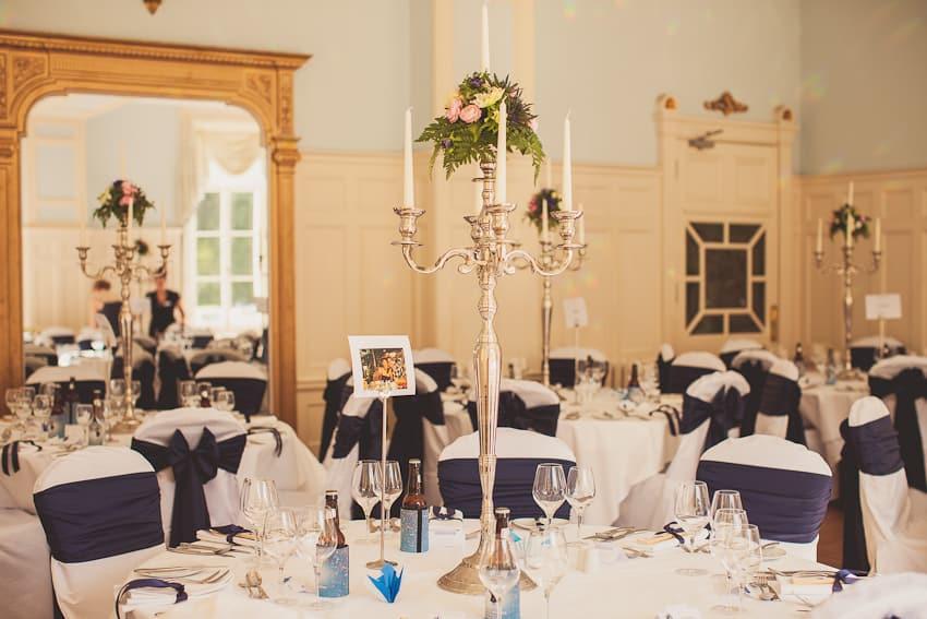 Solsgirth house wedding room set up