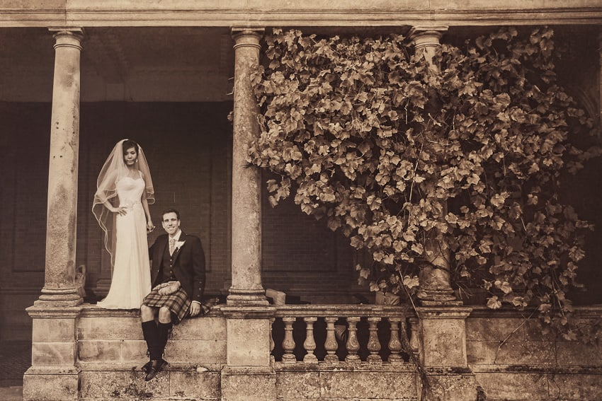 Vintage wedding photography in Scotland