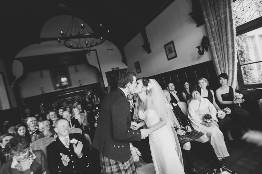 Wedding ceremony Solsgirth house
