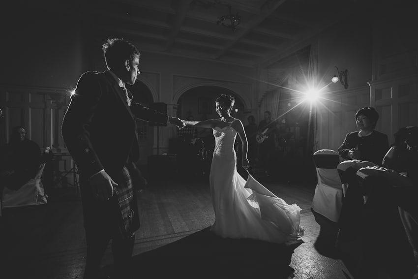 Wedding first dance Solsgirth house hotel