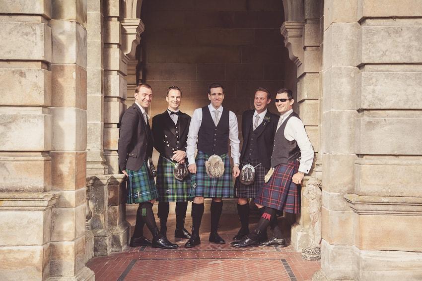 Wedding party at solgirth hotel Scotland