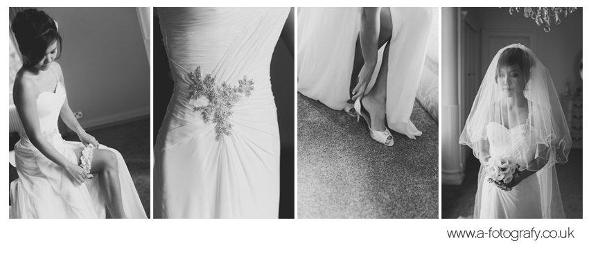 bridal getting ready at the Solsgirth house wedding venue