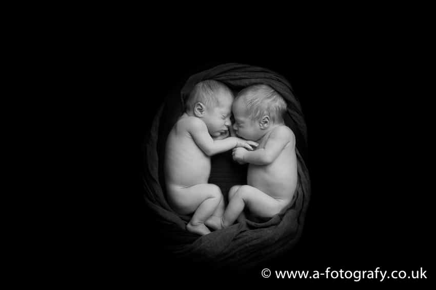 Edinburgh twins newborn photography studio