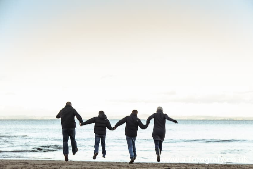 Gullane beach family session