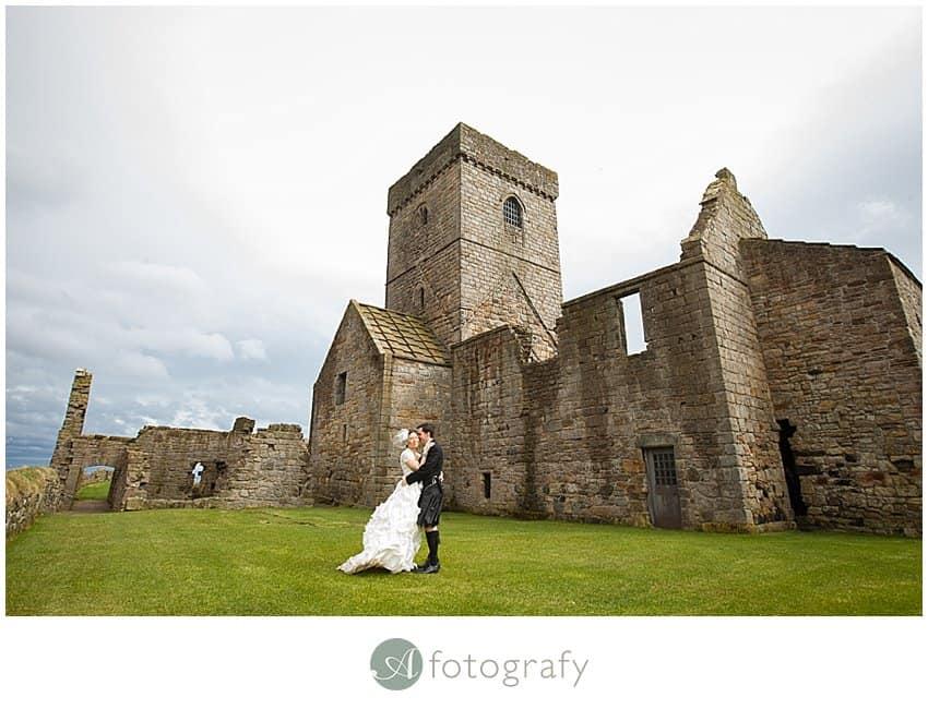 Edinburgh wedding photography - Inchcolm island abbey-11