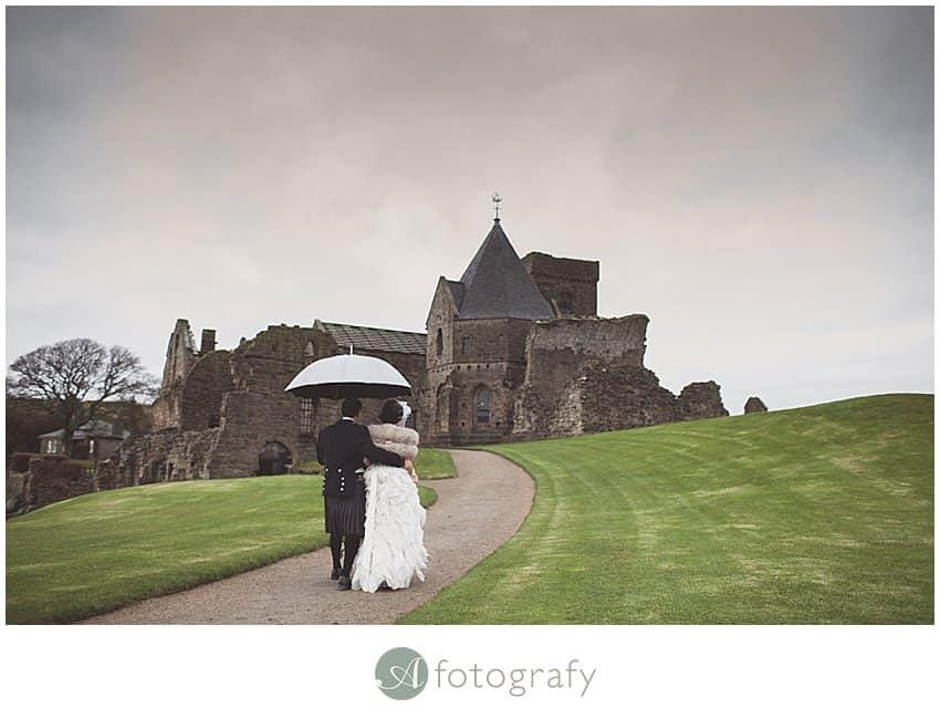 Edinburgh wedding photographer - Inchcolm island abbey-3