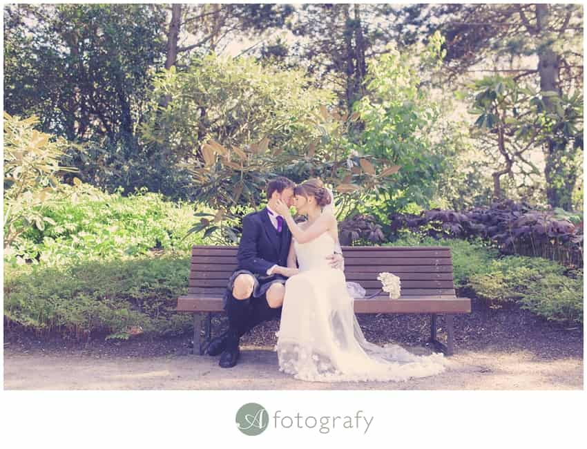 Edinburgh botanic gardens wedding photography-30