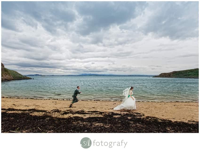 Inchcolm island wedding photography-24