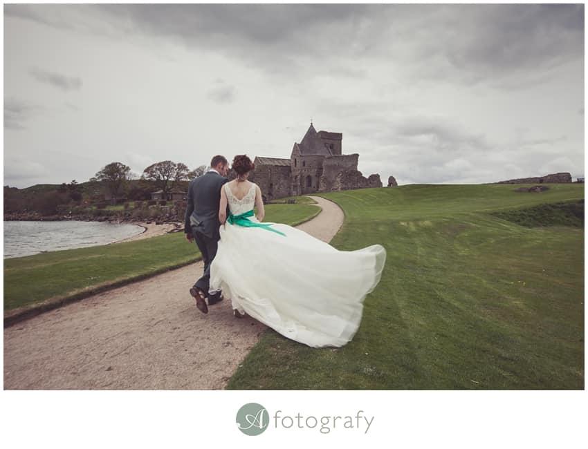 Inchcolm island wedding photography-26