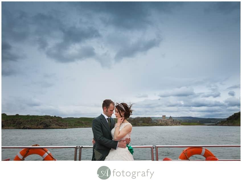 Inchcolm island wedding photography-27