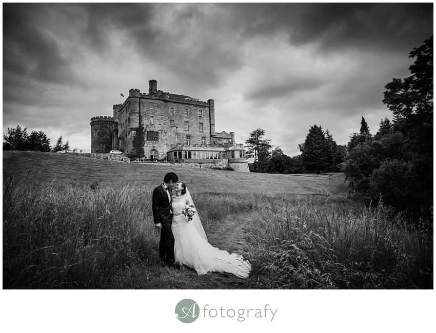 Scottish Hong Kong wedding photography at Dalhousie castle