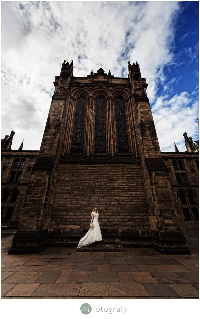 Glasgow University Chapel Wedding