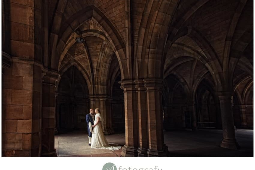 Glasgow University Chapel Wedding | Az and Lindsey 8
