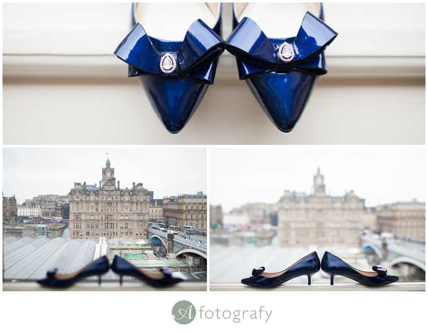 Edinburgh balmoral hotel wedding photography