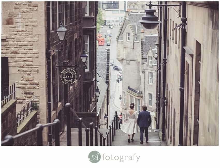 Edinburgh Royal mile wedding photos