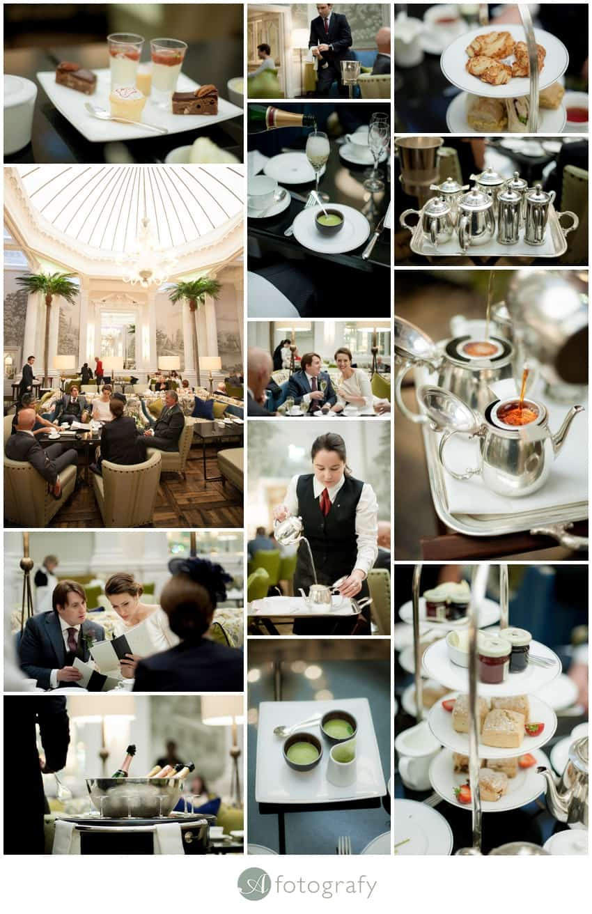 Edinburgh balmoral hotel wedding afternoon tea