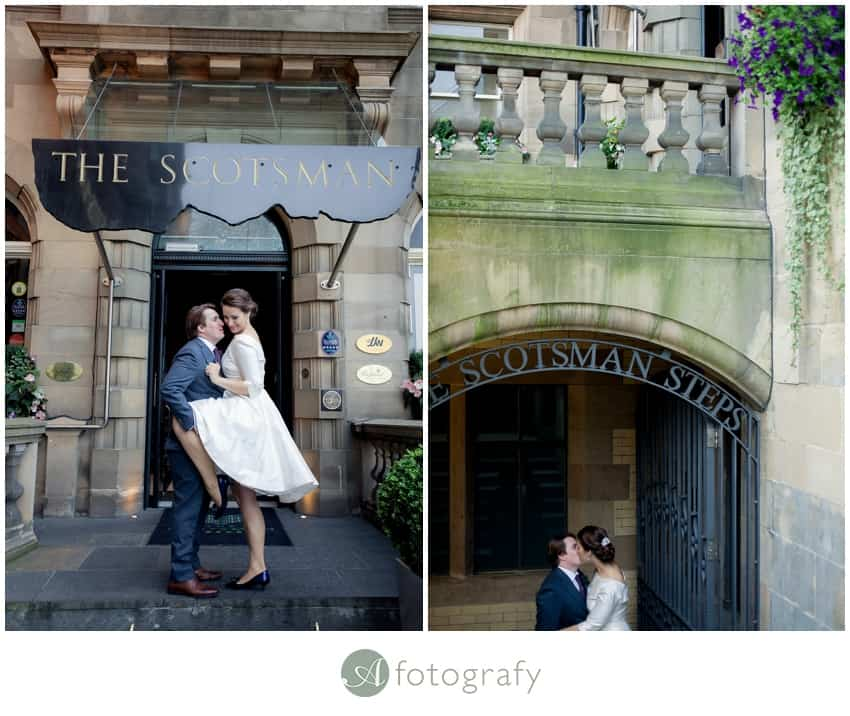 Edinburgh Scotsman hotel wedding photography