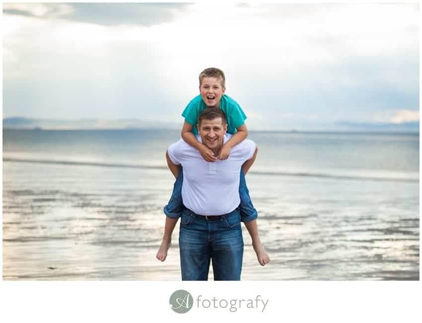 family photoshoot east lothian beach Gullane