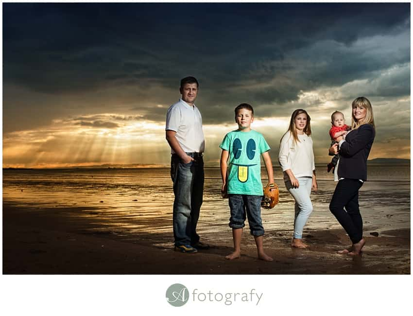 family photo shoot east lothian on gullane beach