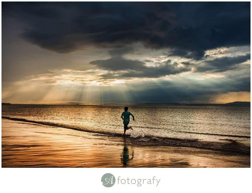 family photoshoot east lothian on gullane beach