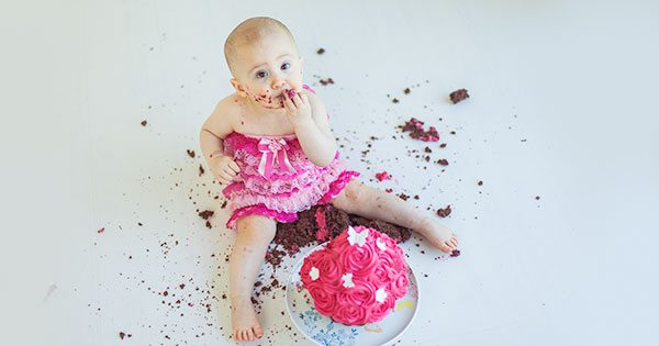 Edinburgh baby cake smash photography