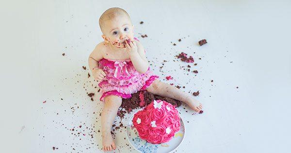 Edinburgh baby cake smash photography