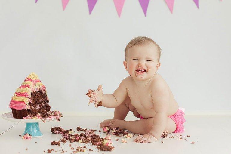 Cake Smash in Edinburgh | 1st Birthday Photos 17