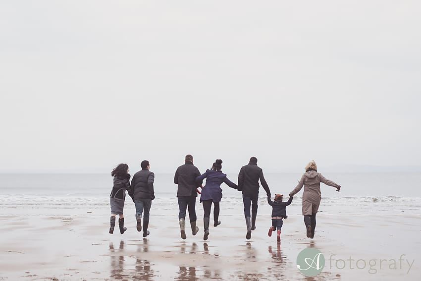 Professional family photos of Allsopps on Gullane beach 7