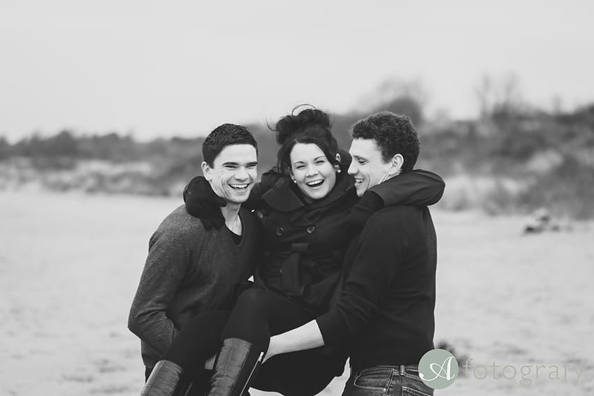 Professional family photos of Allsopps on Gullane beach 5