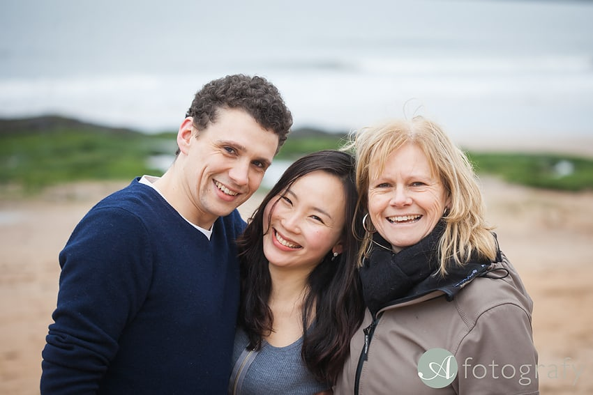 Professional family photos of Allsopps on Gullane beach 3