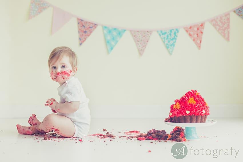 cute birthday cake smash photography Edinburgh-021