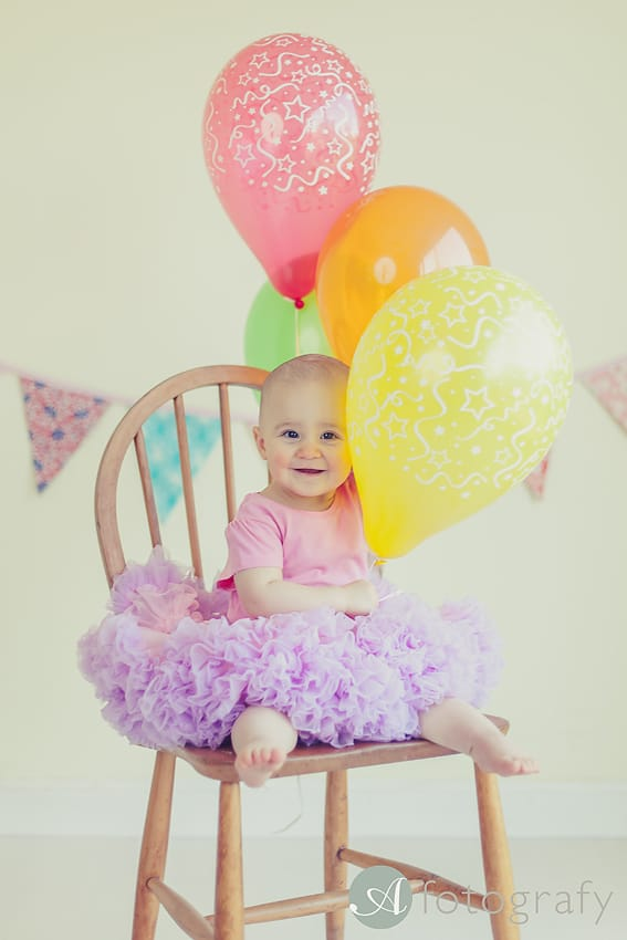 baby birthday cake smash photo session