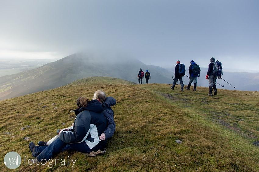 Scottish hillwalking photo session
