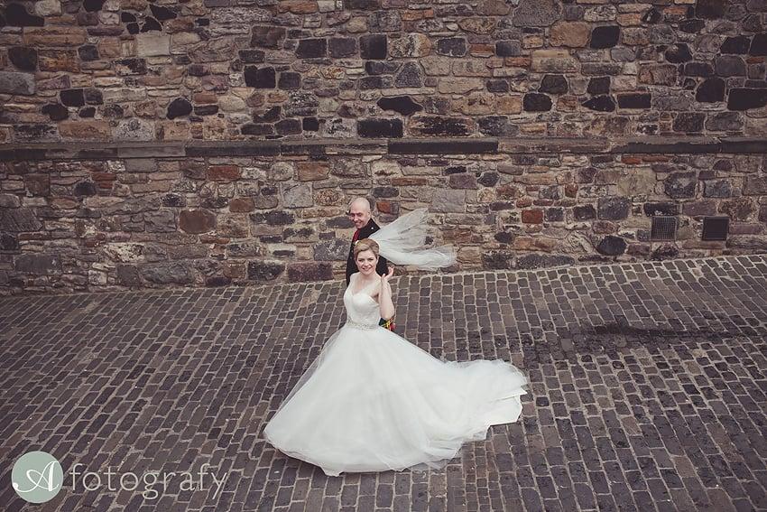 edinburgh castle wedding photography -028