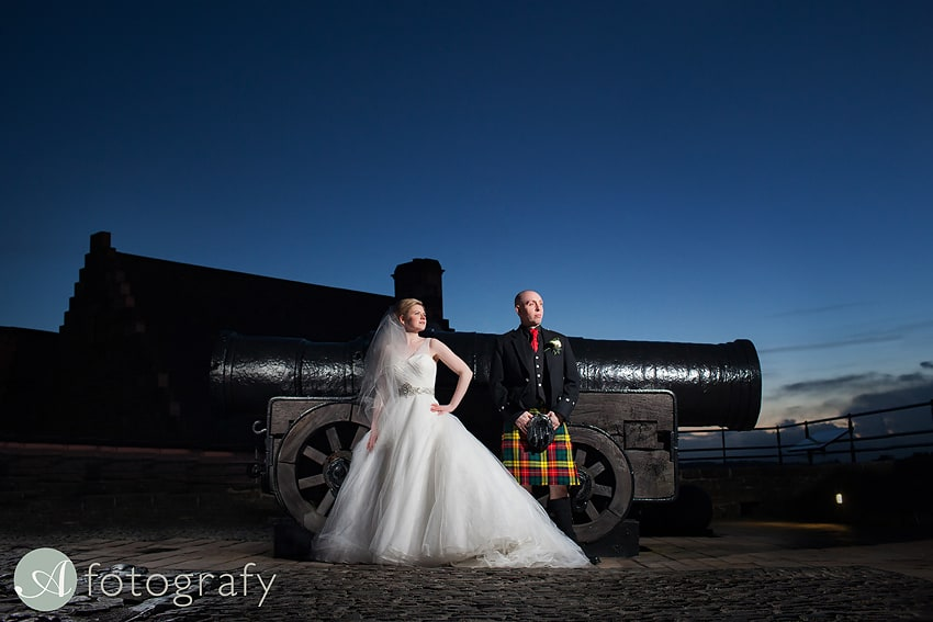 Mark and Isla's atmospheric wedding at Edinburgh Castle. 13