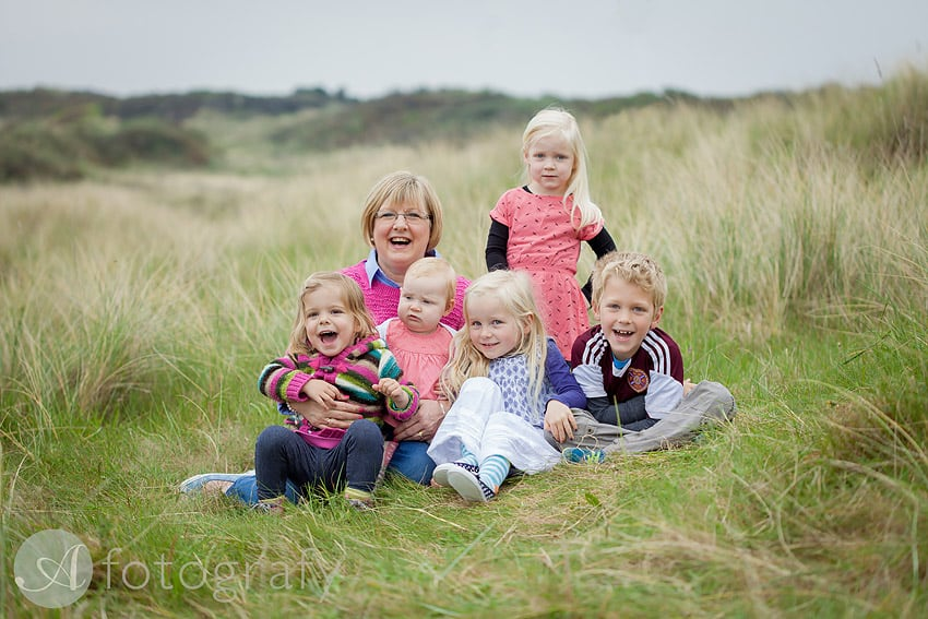 60th birthday photoshoot on East Lothian Gullane beach