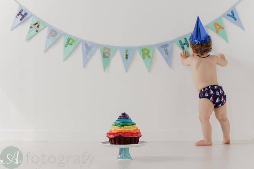 Edinburgh baby photographers cake smash-008